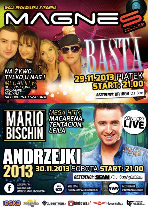 Magnes Club Wola Rychwalska – Old Party Hits & Andrzejki 2013