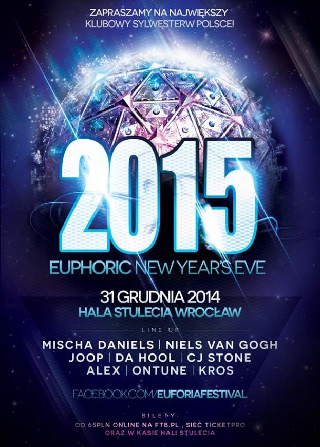 KONKURS – Wygraj bilet na Euphoric New YearS Eve 2015