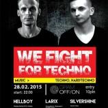 Klub GramOFF/ON Warszawa – WE FIGHT FOR TECHNO