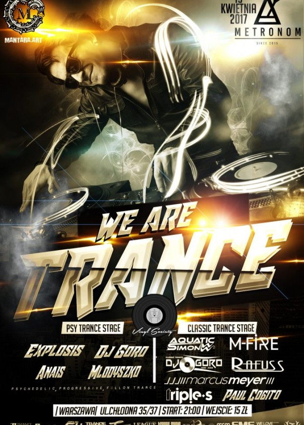 Metronom Warszawa – Vinyl Society & Mantara Art pres. We Are Trance