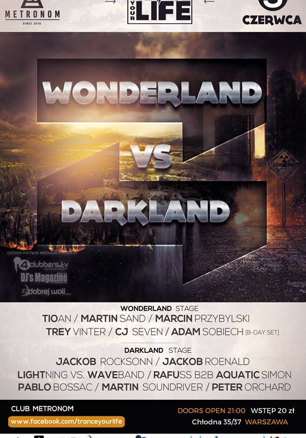 Metronom Warszawa – Trance Your Live with Wonderland vs. Darkland