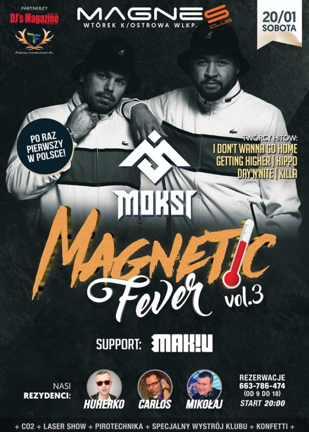 Magnes Club Wtórek – Magnetic Fever vol. 3 Moksi
