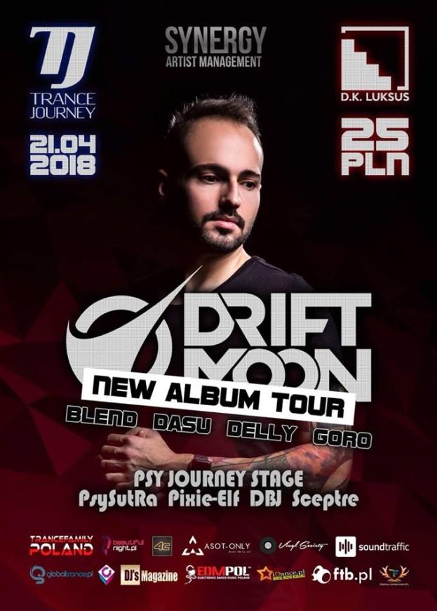 D.K. Luksus Wrocław– Trance Journey pres. Driftmoon's New Album Tour