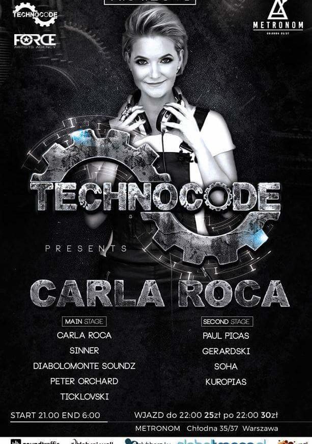 Metronom Warszawa –TechnoCode pres.Carla Roca