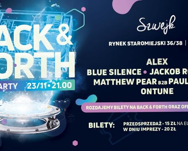 Szwejk Toruń – Back & Forth 4.0 Pre-Party