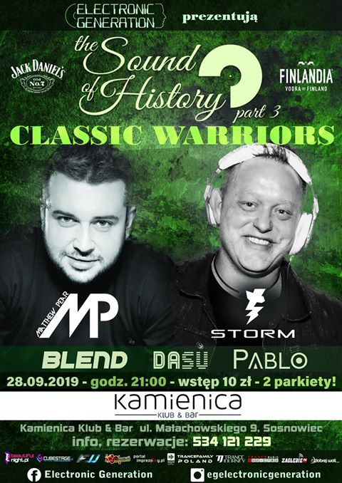 Kamienica Klub & Bar Sosnowiec– The Sound of History part 3 pres. Classic Warriors